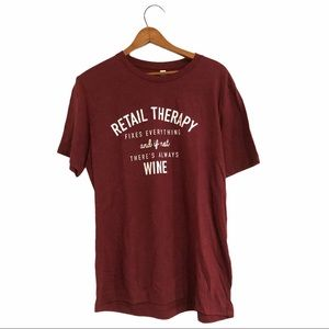 Wine & retail therapy t-shirt